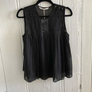 Zara babydoll lace top